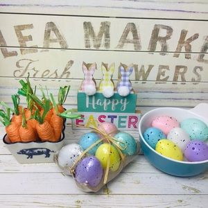 """Happy Easter"", Eggs and Carrots Decors"